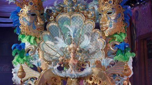 Imagen de una de las reinas de los Carnavales de Tenerife